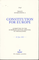Draft Treaty Establishing a Constitution for Europe