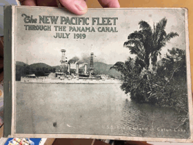 The NEW PACIFIC FLEET. Through the Panama canal. July 1919