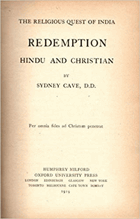The Religious Quest of India Redemption Hindu and Christian